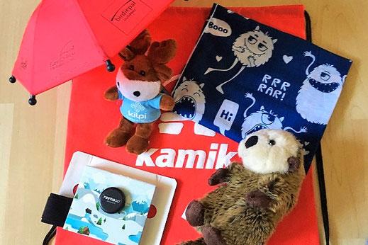 Samus Ausbeute... Danke an Reima, Max&Fred und Kamik für den Otter. Samus absolutes Lieblingsmitbringsel von der Messe ;-)
