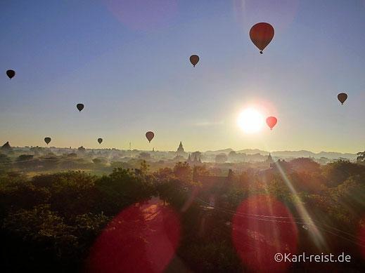 Mystischer Momemt im Morgengrauen in Myanmar. @karl-reist