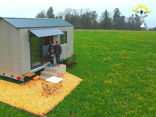 Das Tiny House hat uns gefallen - leben auf kleinem Raum mit dennoch viel Freiraum