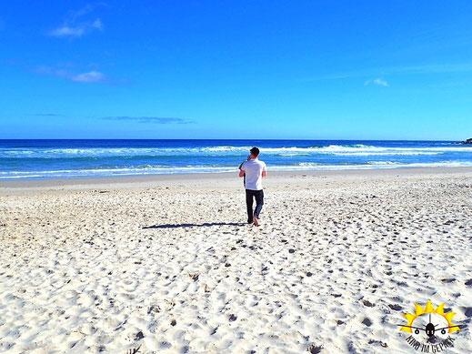 Keine Menschenseele am Strand von Llandudno.