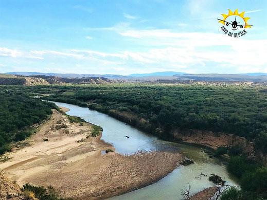 Ausblick auf dem Boquillas Canyon Trail nach Mexiko