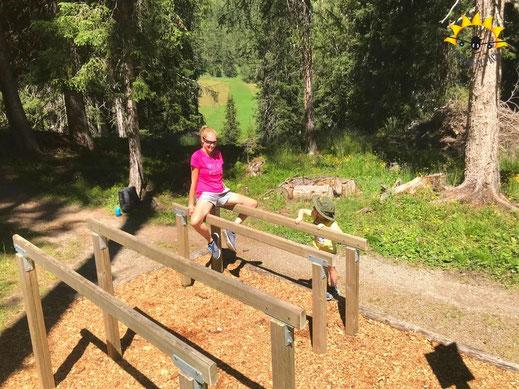 Wanderung Vitaparcours durch den Inner Wald für Familien.