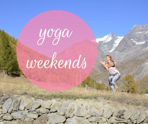 Yoga Wochenenden Saas-Fee