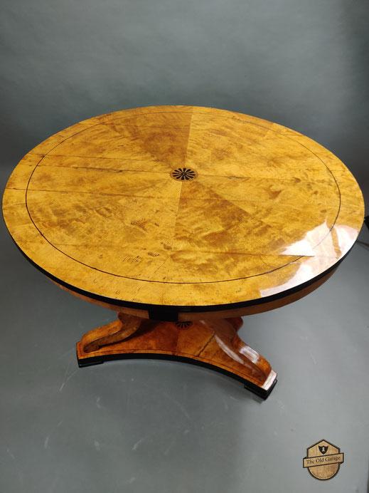 Biedermeier Salontisch Tisch Birke Antik