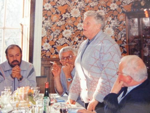 Lieve Claeys even terug in België, op een vergadering van de vzw, afdeling Beauraing.