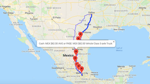 Tollsmart Truck Toll Calculator covers all tolls in North America