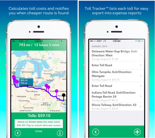 Toll Calculator and Toll Tracker for iPhone