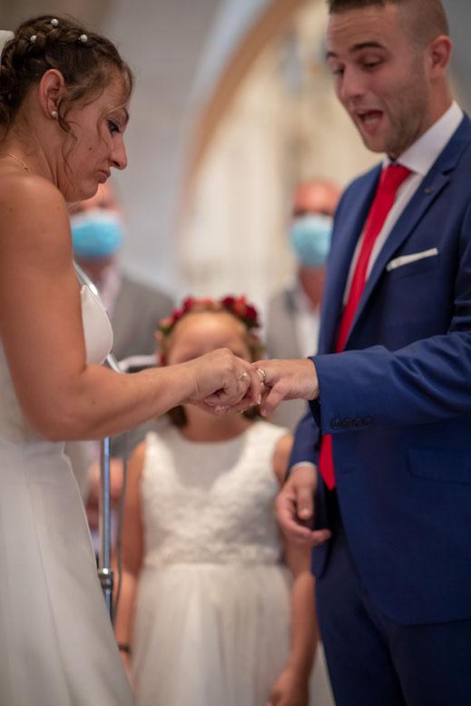 Hochzeitsfotograf Reutlingen Virginie Varon Hochzeitspaar kirchliche trauung