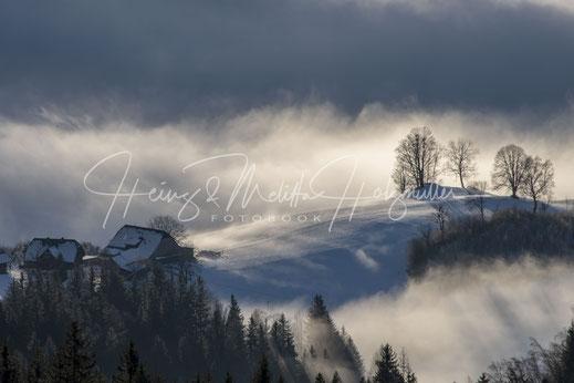 Nebelschwaden in Erlsberg nahe Irdning/Stm./Austria