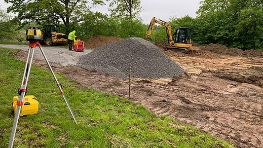 Foto Bauarbeiten für den Pumptrack in Affalterbach