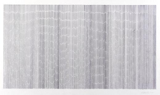 """Notation"", Graphit auf Papier, 93 x 150 cm, 2000"
