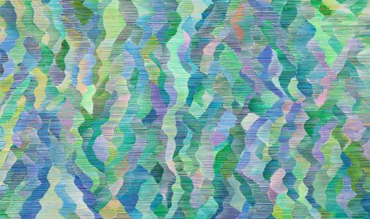 """Wanderung"", 150 x 250 cm, Acryl auf Nessel, 2019"