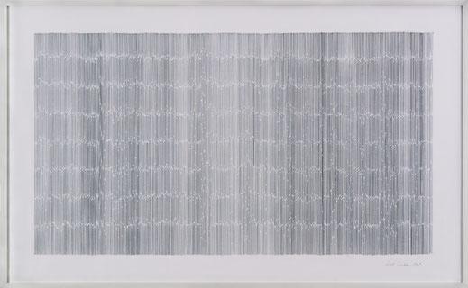 """Notation"", Graphit auf Papier, 93 x 150 cm, 2009"