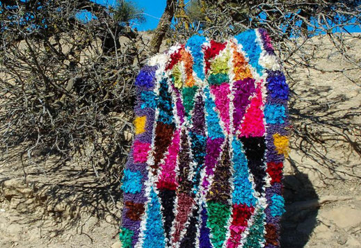 How to make a Boucharouite Carpet - Hiking and Trekking in Ouirgane
