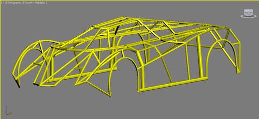 diseño en fibra de vidrio para autos