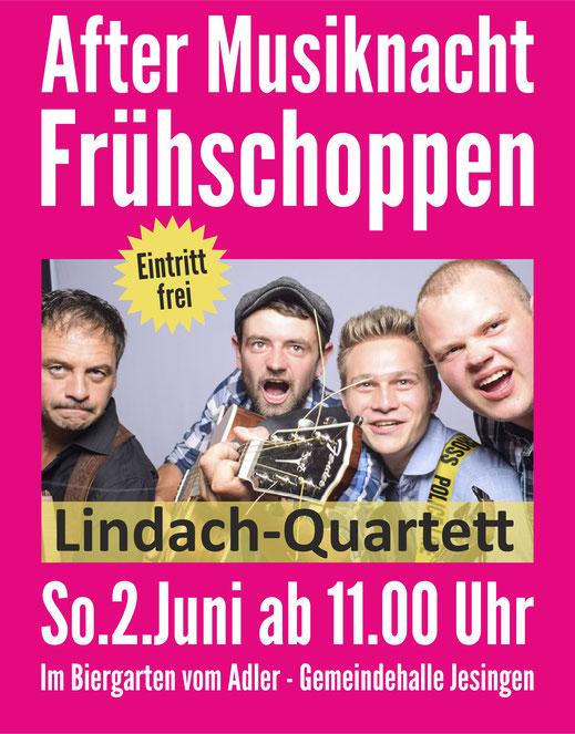 After Musiknacht Frühschoppen im Biergarten vom Adler - Gemeindehalle Jesingen