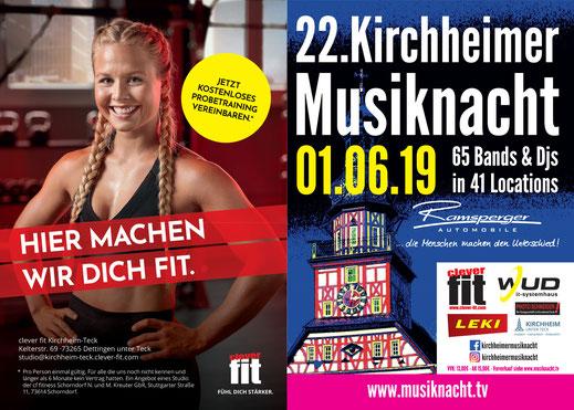 22. Kirchheimer Musiknacht am 01. Juni 2019 - Vorabflyer Seite 4+1