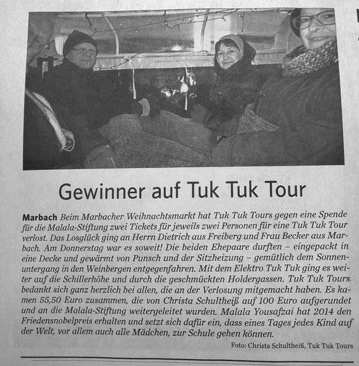 Marbacher Zeitung 16.12.2016