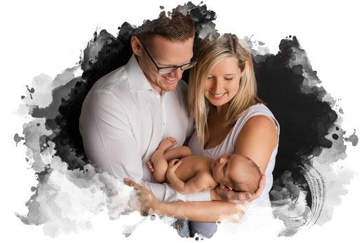 Baby Fotograf Oberösterreich - Salzburg Mädchen rosa lächeln