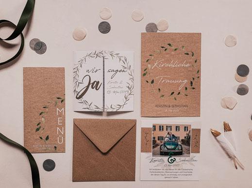 Heiraten, Einladungskarten, Kirchenheft, Grafik, Fotografin, Mindelheim, Unterallgäu, Landkreis Günzburg, Hochzeitskarten