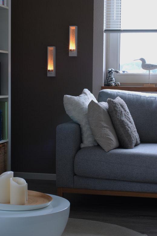 Design Teelichthalter Leuchtobjekt - DIE LUX BOX wandmontiert