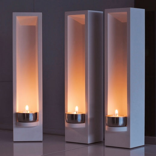 Design Teelichthalter - DIE LUX BOX bei Dunkelheit