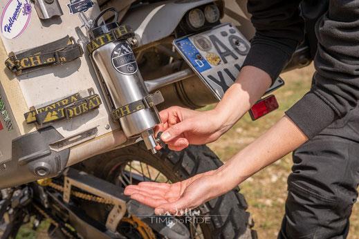 TaptoGo - unser mobiler Wasserhahn und Badezimmer auf unserer Motorrad-Reise - Outdoor & Camping