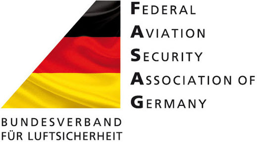 LOGO der FASAG: FEDERAL AVIATION SECURITY ASSOCIATION OF GERMANY – BUNDESVERBAND FÜR LUFTSICHERHEIT E.V.