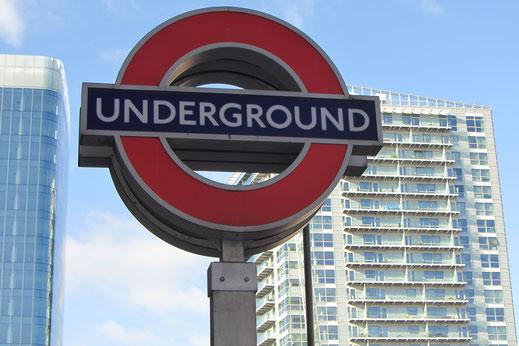 Londoner U-Bahn Schild