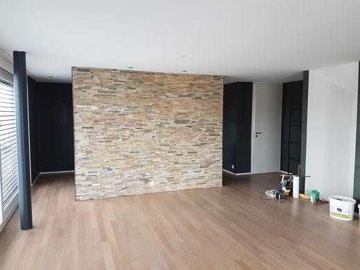 Komplettes Mauerwerk in Einfamilienhaus neu gestrichen