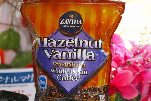 濃厚なヘーゼルナッツの香りのフレイバーコーヒー。店頭販売中