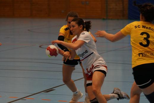 Ruth Krenss und Manuela Friedrich TSV Landsbreg Handball