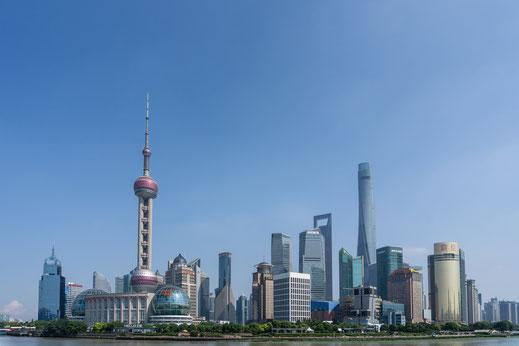 Shanghai Financial District China
