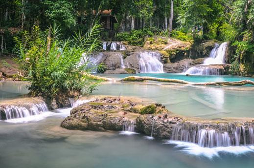 Kuang Si Wasserfälle Laos