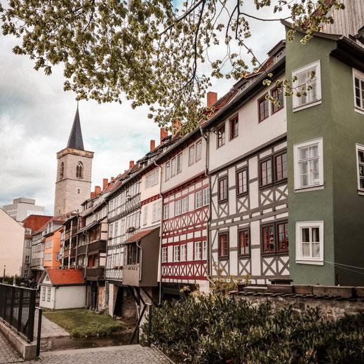 Malerische Fachwerkhäuser in Erfurt