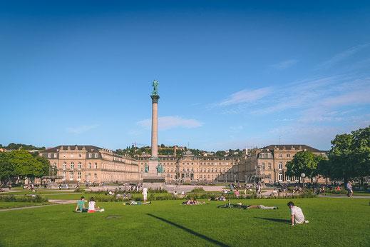 Schlosspark in Stuttgart