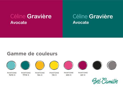 Charte graphique pour une avocate à Bordeaux, réalisation Bel-Camille