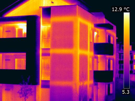 termografia ponti termici dispersioni termiche mappatura termografica