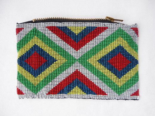 Kosmetiktasche - Perlentasche Indianer 2 - Nina Salpius