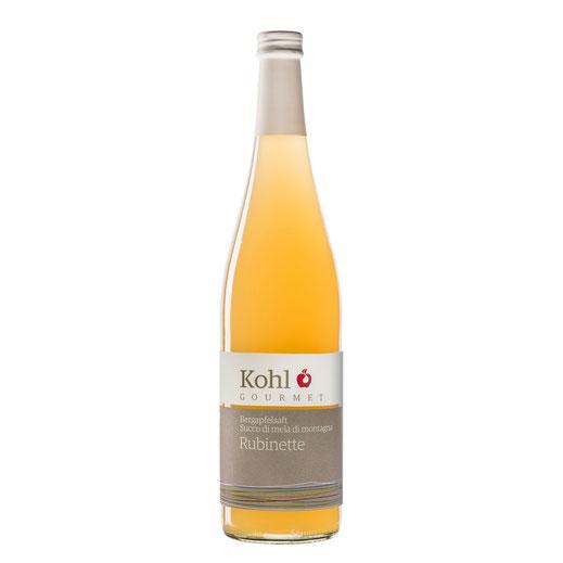 Kohl Bergapfelsaft Rubinette sortenreiner Apfelsaft sortenreiner Saft Saftgourmet Gourmetsaft alkohlfreie Alternative