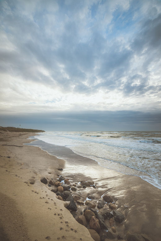 Beach of the north coast of Denmark