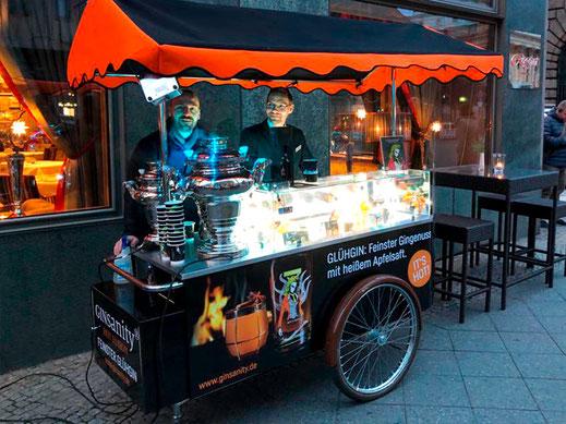 Glühgin-Stand in Berlin
