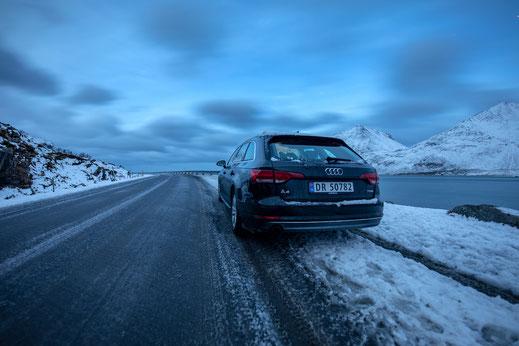 Mietwagen / Auto von Sixt, Lofoten im Winter, Billiger-Mietwagen
