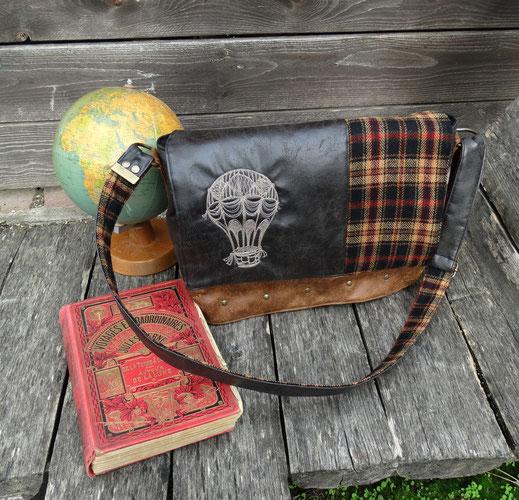 creations artisanales pour homme besace sac à dos jules verne