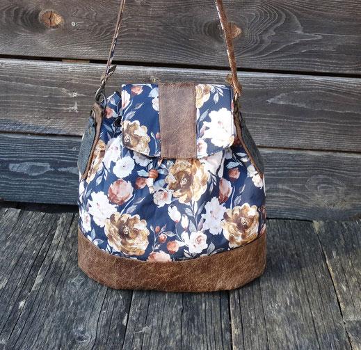 sac à amin seau femme convertible sac à dos bandoulière amovible règlable sac original pratique cadeau femme tissu floral