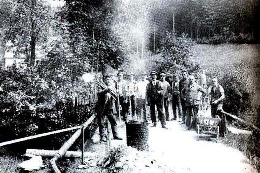 Bild: Ulbrichtsmühle Neunzehnhain Wegebaukolonne