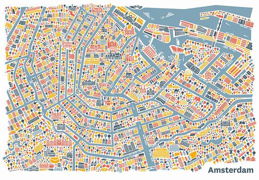 Stadtplan von Amsterdam, Städtereise