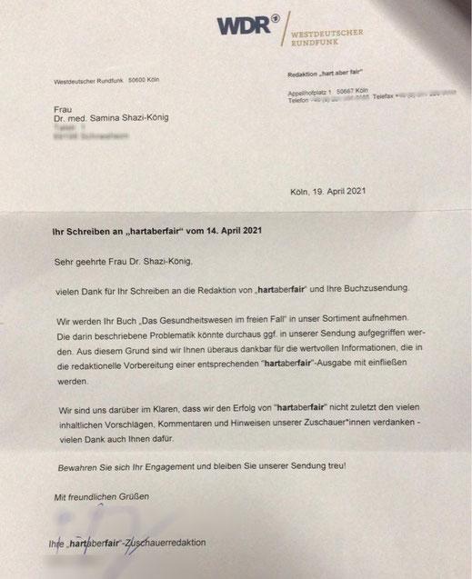 WDR hart aber fair Redaktion
