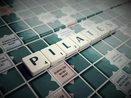 Pilates Scrabble Spielbrett