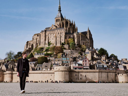 The perfect picture with Mont-Saint-Michel as background